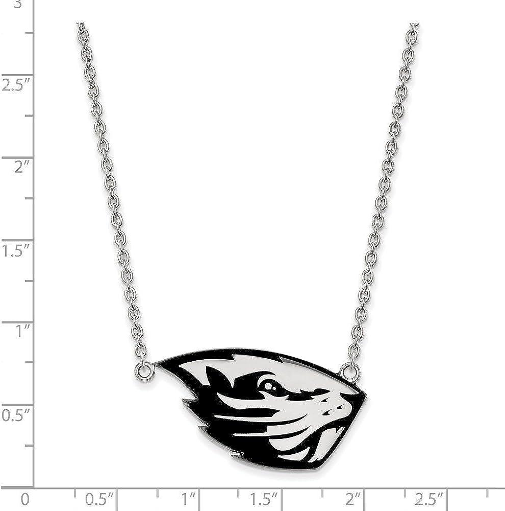 Collegiate Oregon State University Sterling Silver LogoArt Oregon State University Large Pendant