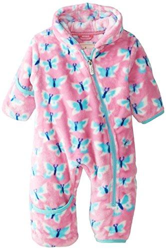 Hatley Baby Girls' Fuzzy Fleece Bundler Butterflies, Pink, 12 18 Months