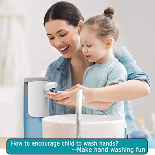 XUNPAS Automatic Soap Dispenser,Automatic Hand Sanitizer Dispenser with Waterproof Base Suitable for Bathroom Kitchen Hotel Restaurant