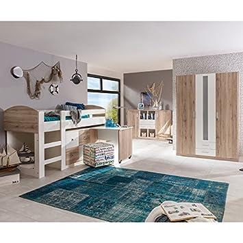Amazon.de: Komplett Kinderzimmer Set Sanremo Eiche Jugendzimmer ...