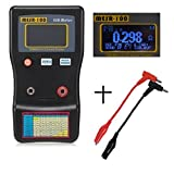 YoungGo MESR-100 Capacitance Meter V2 Auto Ranging in Circuit ESR Capacitor / Low Ohm Tester Up to 0.01 to 100R With 2 Test Clips