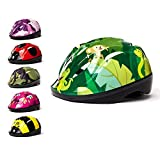 3Style Scooters - Kids Cycle Helmet in Jungle Theme Design - For Cycling, Skating, Scooting - Adjustable Headband - Suitable For Head Sizes 51cm, 52cm & 53cm - Vented Design - Suitable For Kids Aged 4, 5 & 6 Years Old