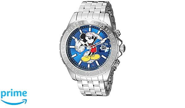 Invicta Men's Disney Limited Edition Quartz Watch with Stainless-Steel  Strap, Silver, 22 (Model: 27373