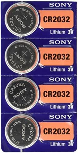 4 Sony CR2032 Lithium Ion Batteries