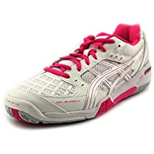 Asics Gel Blade 4 Women's Indoor Court Shoes White/Pink/Silver