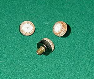 12MM Screw-on Billiard Cue Tips - Leather (Set of 6)