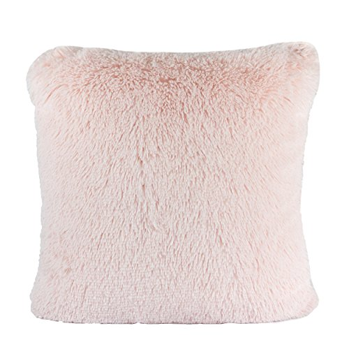 Homey Cozy Faux Fur Throw Pillow Cover,Lavender Pink Double-Side Luxury Fluffy Super-Soft Plush Fur Decorative Couch Cushion Pillow Case 20 x 20 Inch, Cover Only - Lavender Decorative Pillow