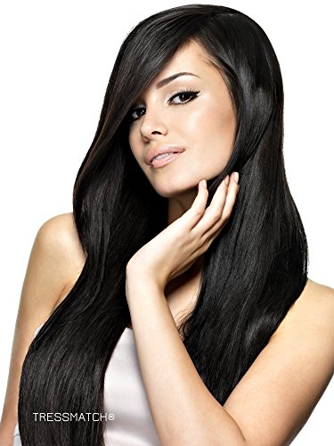 Clip in Remy(remi) Human Hair Extensions Thick to Ends Off Black (Color #1b) 9 Pieces(pcs) Full Head Set [set weight: 4.2oz(120gra (Remi Clip Hair Extensions)