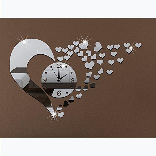 3d acrylic mirror wall sticker clock decoration decor On 3d acrylic mirror wall sticker clock decoration decor