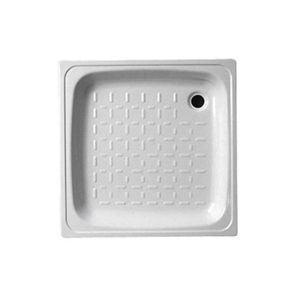 Smavit Plato de Ducha Acero Blanco de 80 X 80 cm X H: 8: Amazon.es ...