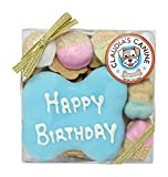 Happy Birthday Assorted Dog Treats in Blue by Claudia's Canine Bakery