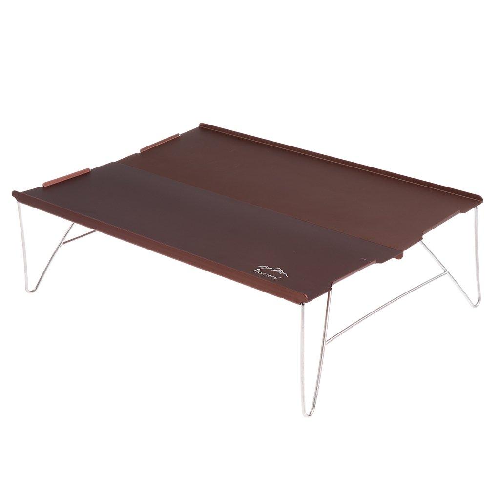 homylポータブルアルミ折りたたみ式テーブルデスクのキャンプピクニックアウトドア旅行ハイキング釣り B07CSTMBBH  シャンパン
