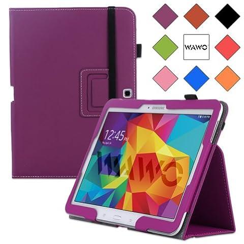 WAWO Samsung Galaxy Tab 4 10.1 Inch Tablet Smart Cover Creative Folio Case (Purple) (Galaxy 4g Lte Tablet)