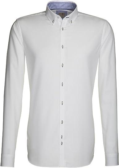 Diseño Slim Fit camisa para hombre de seda rosa negro 1/1-Arm no necesita planchado 01, 240275: Amazon.es: Ropa y accesorios