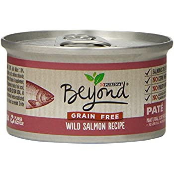 Purina Beyond Natural Canned Cat Food, Grain Free, Wild Salmon Recipe, 3-Ounce Can, Pack of 12