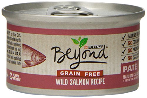 Purina Beyond Natural Canned Cat Food, Grain Free, Wild Salmon Recipe, 3-Ounce Can, Pack of 12 (Canned Wellness Cat Food compare prices)