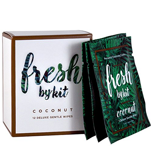 Fresh by Kit Deluxe Gentle Wipes - Coconut 12 Pack