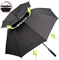 ZOMAKE Vented Sun Umbrella - Golf Umbrella Windproof Large 62 inch Double Canopy Automatic Open Umbrella