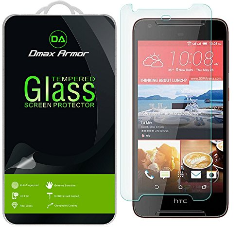 [2-Pack] Dmax Armor for HTC Desire 628 Glass Screen Protector, [Tempered Glass] 0.3mm 9H Hardness, Anti-Scratch, Anti-Fingerprint, Bubble Free, Ultra-Clear