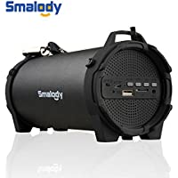 Smalody Bluetooth Speaker Portable Outdoor Wireless Speakers with Carrying Strap Built in USB, TF Card slot,Aux Best for Party,Camping & Outdoor