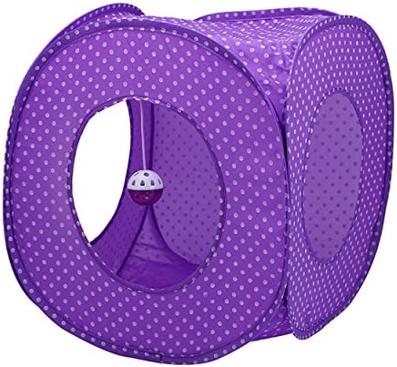 S-Lifeeling Pet Cat Tent Flexible Pop Out Cat Kitty House Play Cube Cushion Mat Play Cat Tunnel Cat Toys Instant Kitty