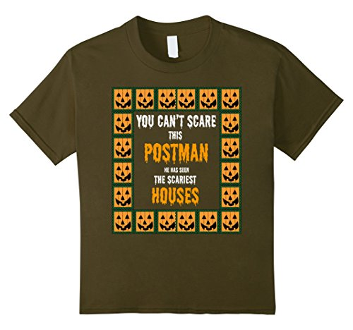 Kids Postman Postal Mailman Funny Halloween Costume T-Shirt 12 (Mailman Costume For Kids)