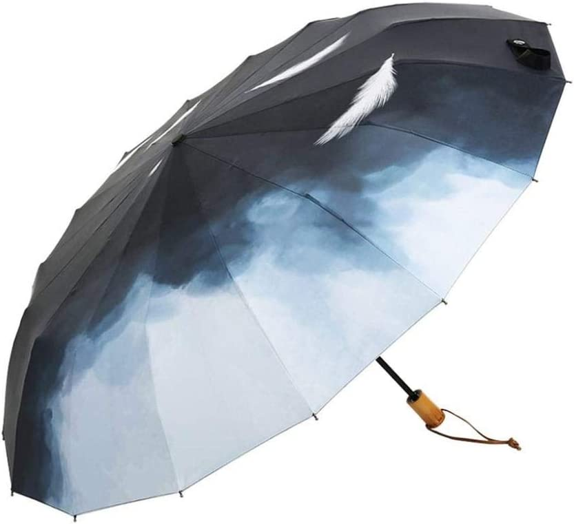 Windproof Umbrella Quick Drying Non-Slip Handle Compact Travel Folding Double Umbrella Portable UV Protection