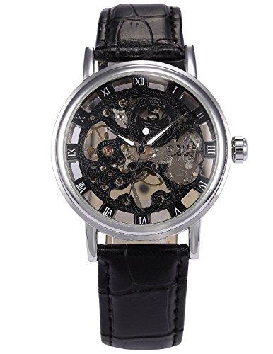 SEWOR Leather Band Mechanical Wrist Watch - 1