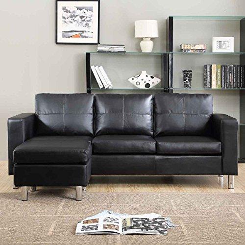 Divano angolare moderno ecopelle con pouf sofa soggiorno for Divano con pouf