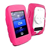 Tuff-luv Silicone Gel Skin Case Cover for Garmin Edge 520 and Screen Protector - Pink
