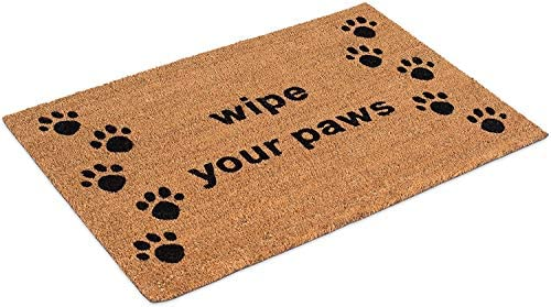New Kempf Wipe Your Paws Coco Doormat Rubber Backed 18 By 30 0.5 Inch
