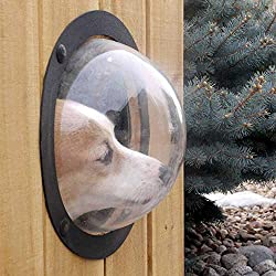 LiPing 12.4in Pet Peek Fence Bubble Window for Dogs Durable Acrylic Dome Fence Window (A)