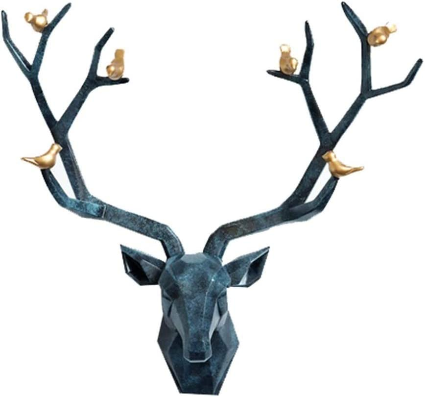 Zlbyb Deer Head Sculpture Animal Head Wall Decor Faux Resin Deer Head For Wall Mount Decoration Color A Amazon Co Uk Kitchen Home