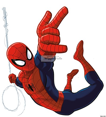 "9"" Ultimate Spiderman Spider Man Marvel Comics Removable Peel Self Stick Adhesive Vinyl Decorative Wall Decal Sticker Art Kids Room Home Decor Boys Children Nursery Baby 8x9 Inch Tall"