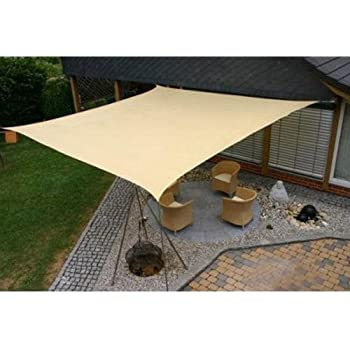 Square 18x18 Ft Sun Sail Shade Cover   Tan