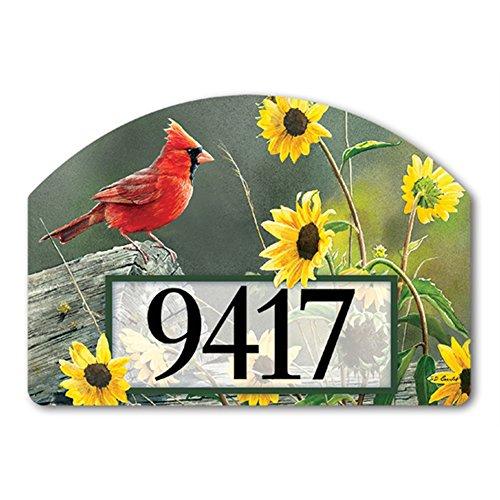 - Cardinal View Yard DeSign Address Sign - 14