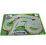 Rain's Pan Cartoon Anime Carpets City Life Play Carpet for Kids (racing)