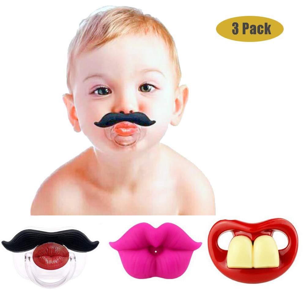 Chupetes divertidos para el bigote del bebé, diseño lindo del ...