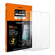 Spigen Screen Protector Tempered Glass for All New Fire HD 8 Tablet [2017 Released]/Fire HD 8 Tablet [2016 Released] (Pack of 2)