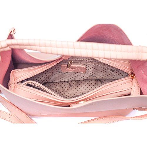 Barbie BBFB529 Bolso Transparente Colección de Princesa Bolso de Multiutilidad con bolso pequeño para mujer Rosa