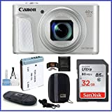 Canon PowerShot SX730 HS Digital Camera (Silver) Bundle; Includes: 32GB SDHC Class 10 Memory Card + Spare Battery + Camera Case and more ...
