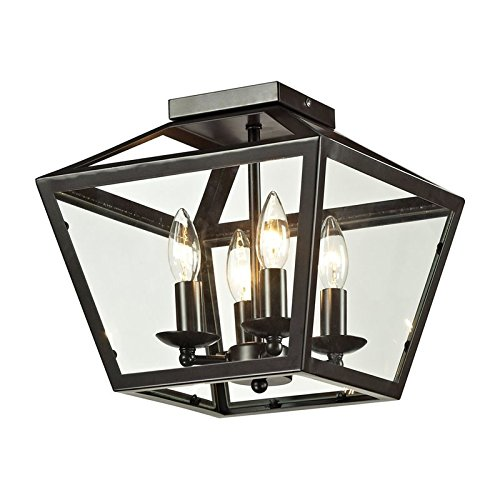 Elk Lighting 31506/4 Alanna Collection 2 Light Flush Mount In Oil Rubbed Bronze -