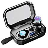 CANAMI Wireless Earbuds Bluetooth 5.0 Headphones Earbuds Bluetooth Wireless Waterproof IPX7 HiFi Stereo Sound 100H Playtime Noise Reduction Earphones True Wireless Earbuds with 3000mAh Charging Case