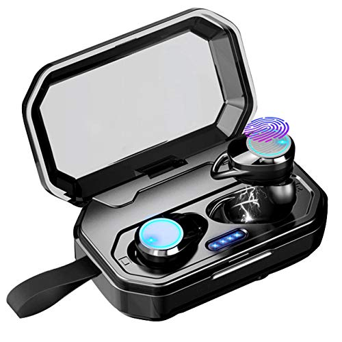CANAMI Wireless Earbuds,Bluetooth 5.0 Headphones Earbuds Bluetooth Wireless Waterproof IPX7 HiFi Stereo Sound 100H Playtime Noise Cancelling Earphones True Wireless Earbuds with 3000mAh Charging Case