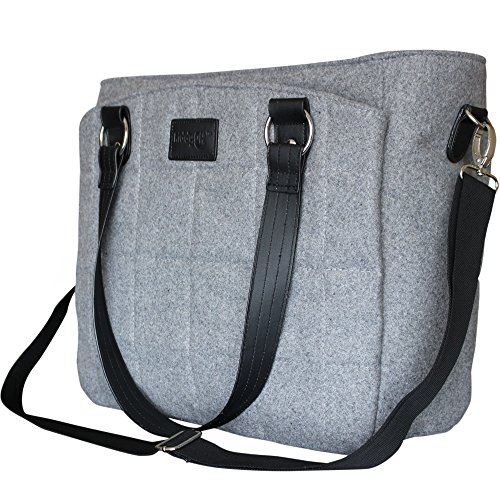 Diaper Bag Convertible Messenger Baby Bag by Kiddyoh - Multi-function Baby Diaper Bag with Stroller Straps - Wool & Polyester Stylish Waterproof Lined Baby Diaper Bag for Mom's - Best Baby Shower Gift