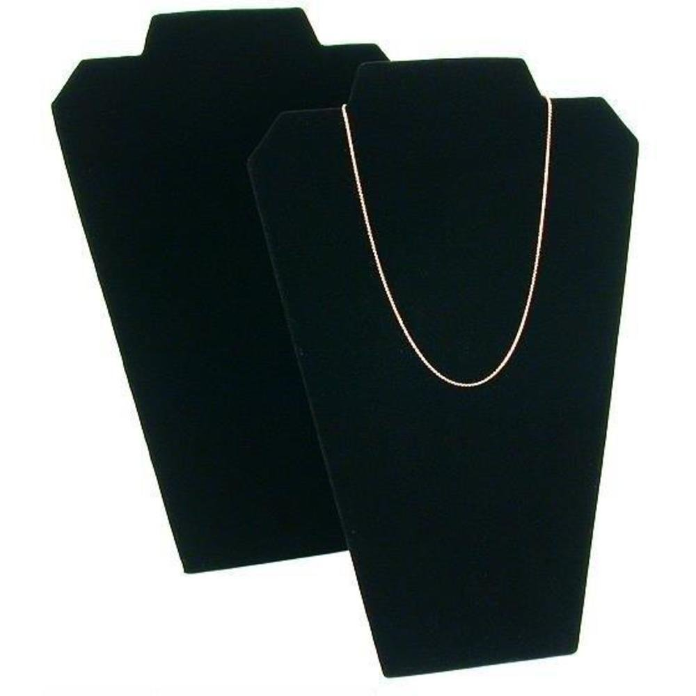 2 Necklace Easel Pad Black Velvet Jewelry Case Display 60-2BK (2)