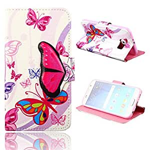 YULIN Vivid Butterfly Pattern PU Leather Full Body Case with Stand for Samsung Galaxy S6