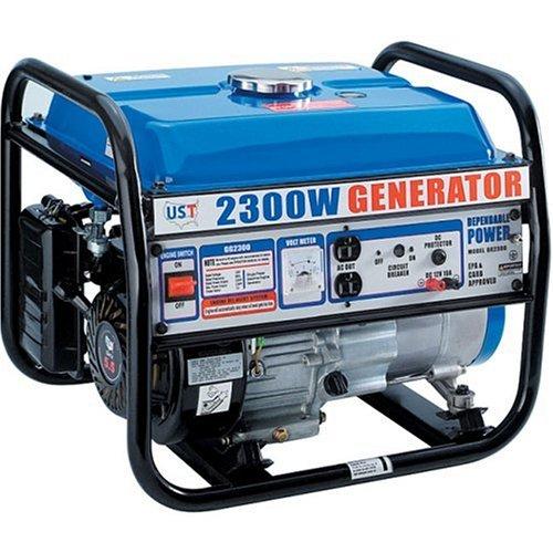 amazon com : ust 2, 300 watt 5 5 hp 163cc 4-stroke ohv portable gas powered  generator gg2300 : riobi generator : garden & outdoor