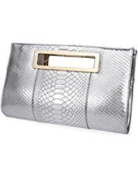 Amazon.com: Silver - Clutches / Handbags & Wallets: Clothing ...