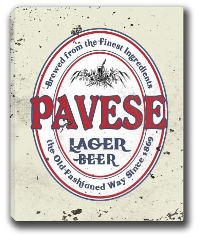 pavese-lager-beer-stretched-canvas-sign-16-x-20